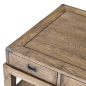 Preview: Coffeetable Smoked Oak 140 x 71 cm - Schubladen