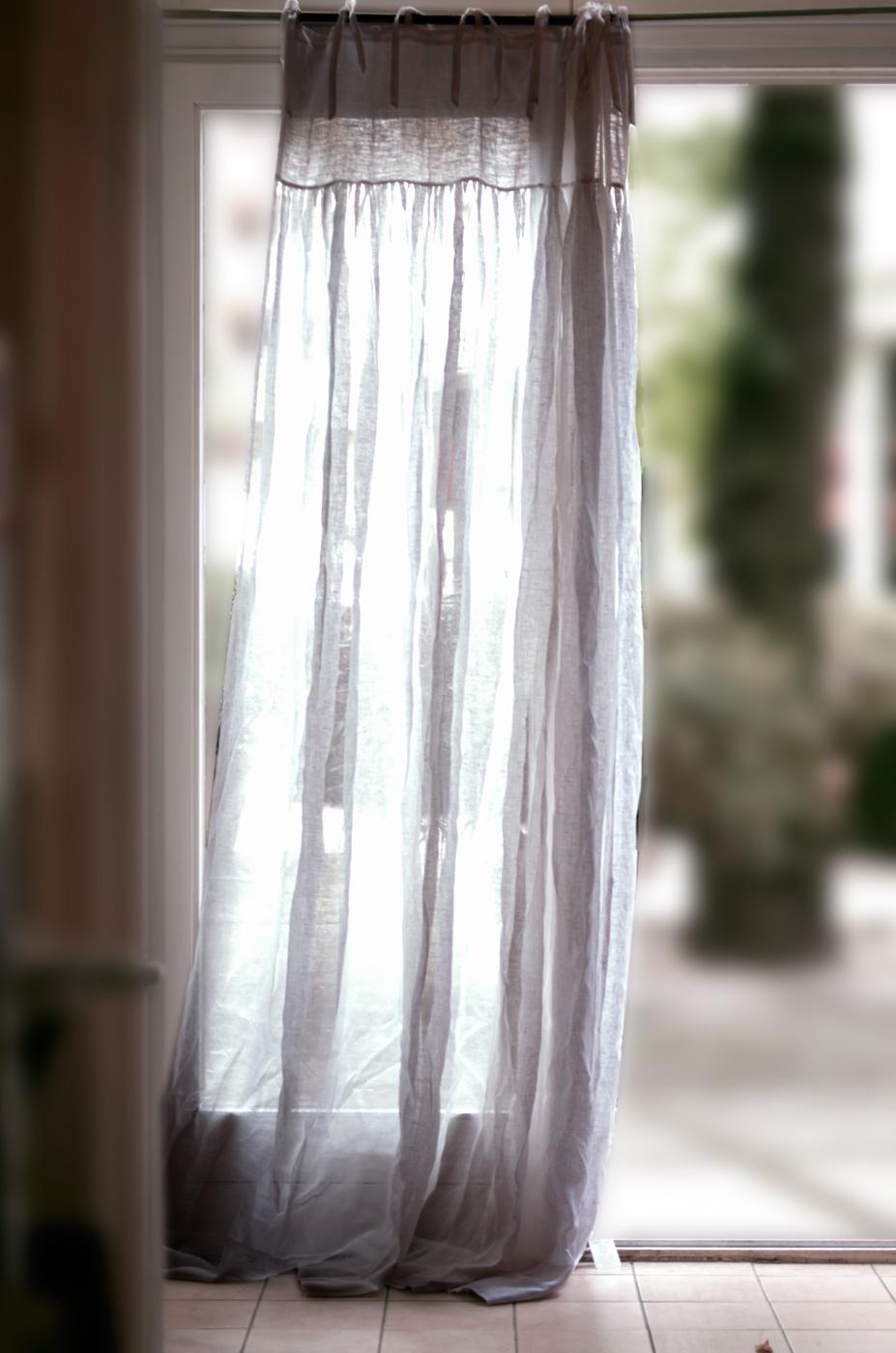 charme de provence leinenvorhang musselinleinen halbtransparenter vorhang. Black Bedroom Furniture Sets. Home Design Ideas