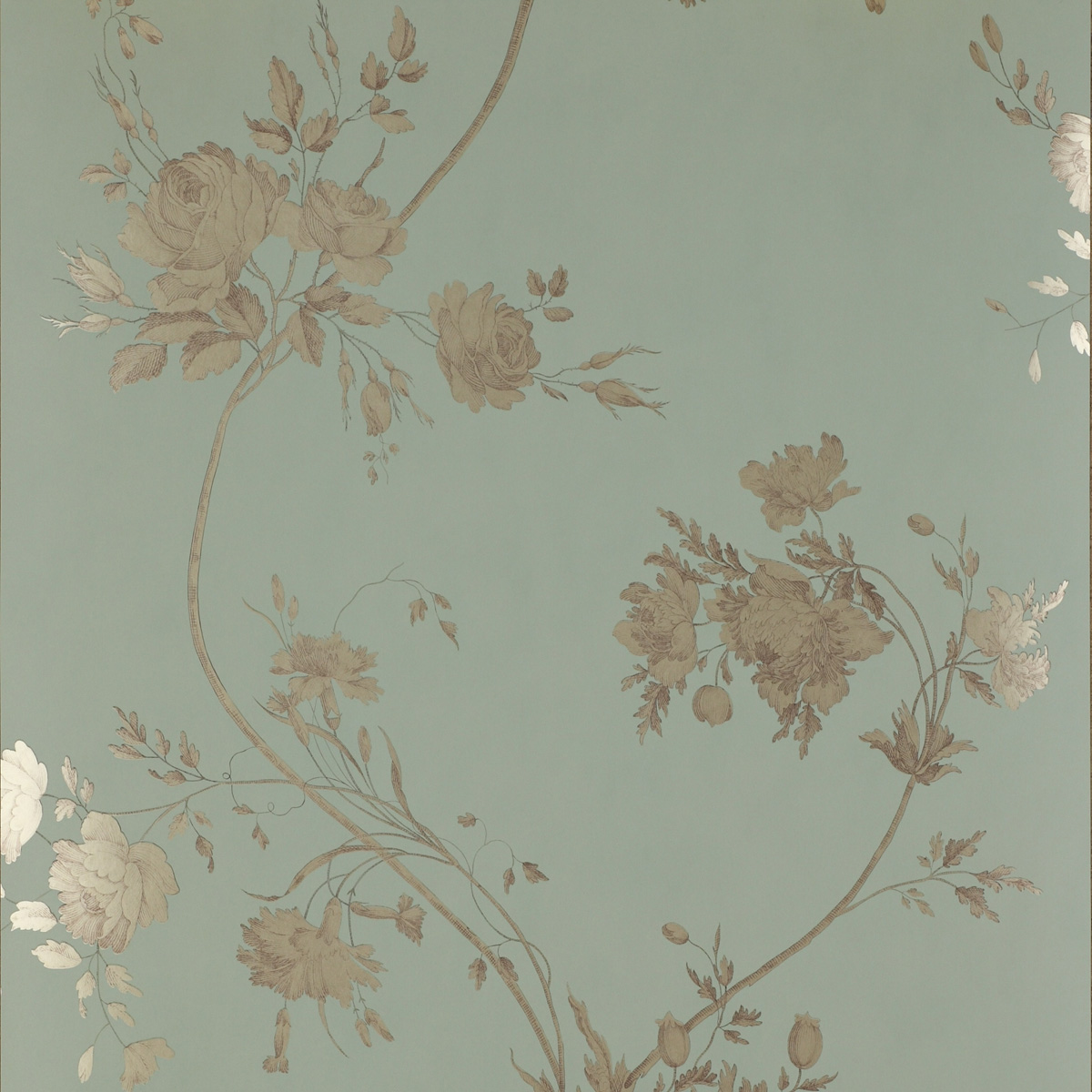 Darcy Wallpaper Tapete Von Colefax And Fowler Aqua