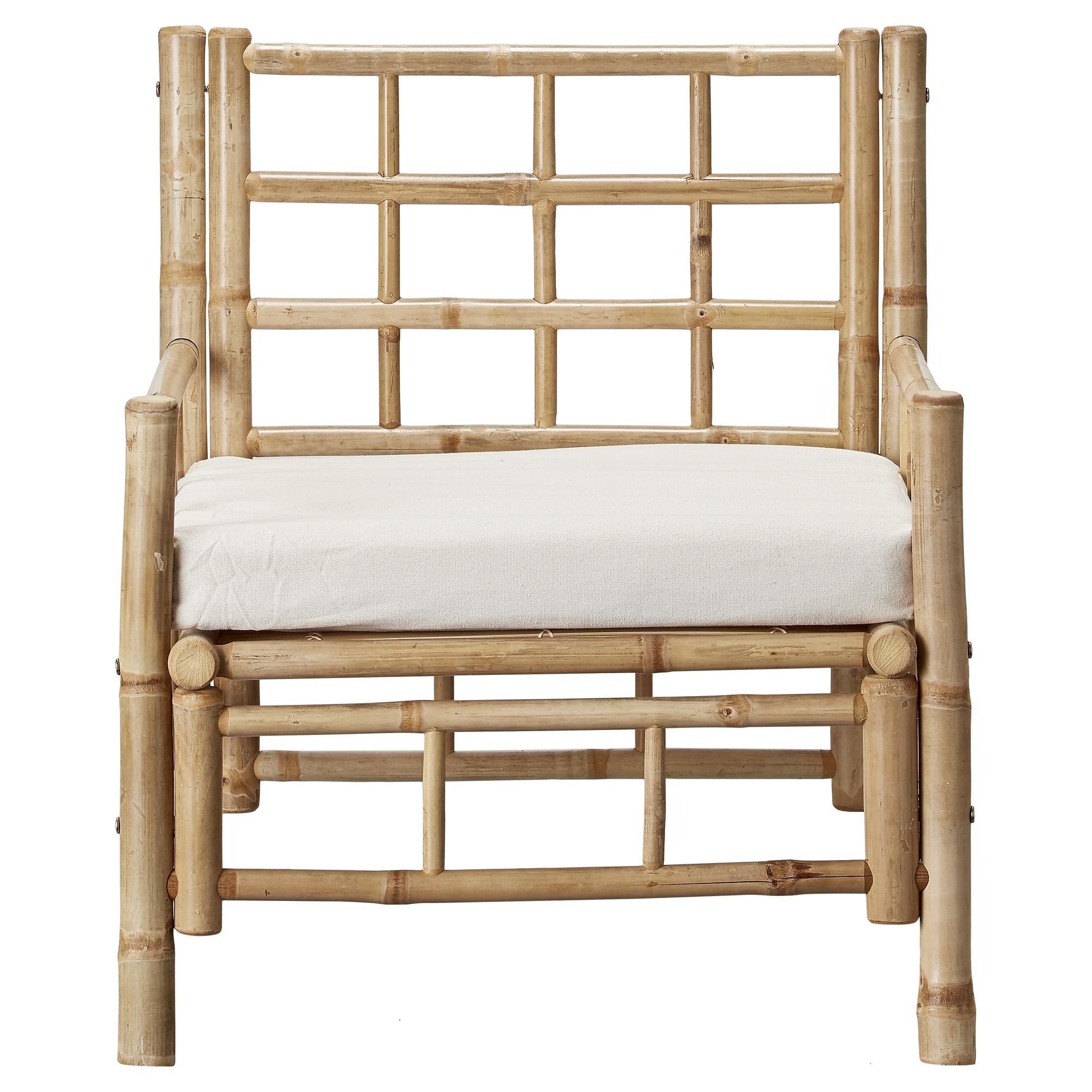 Mandisa Outdoor-Sessel aus Bambus mit Sitzauflage
