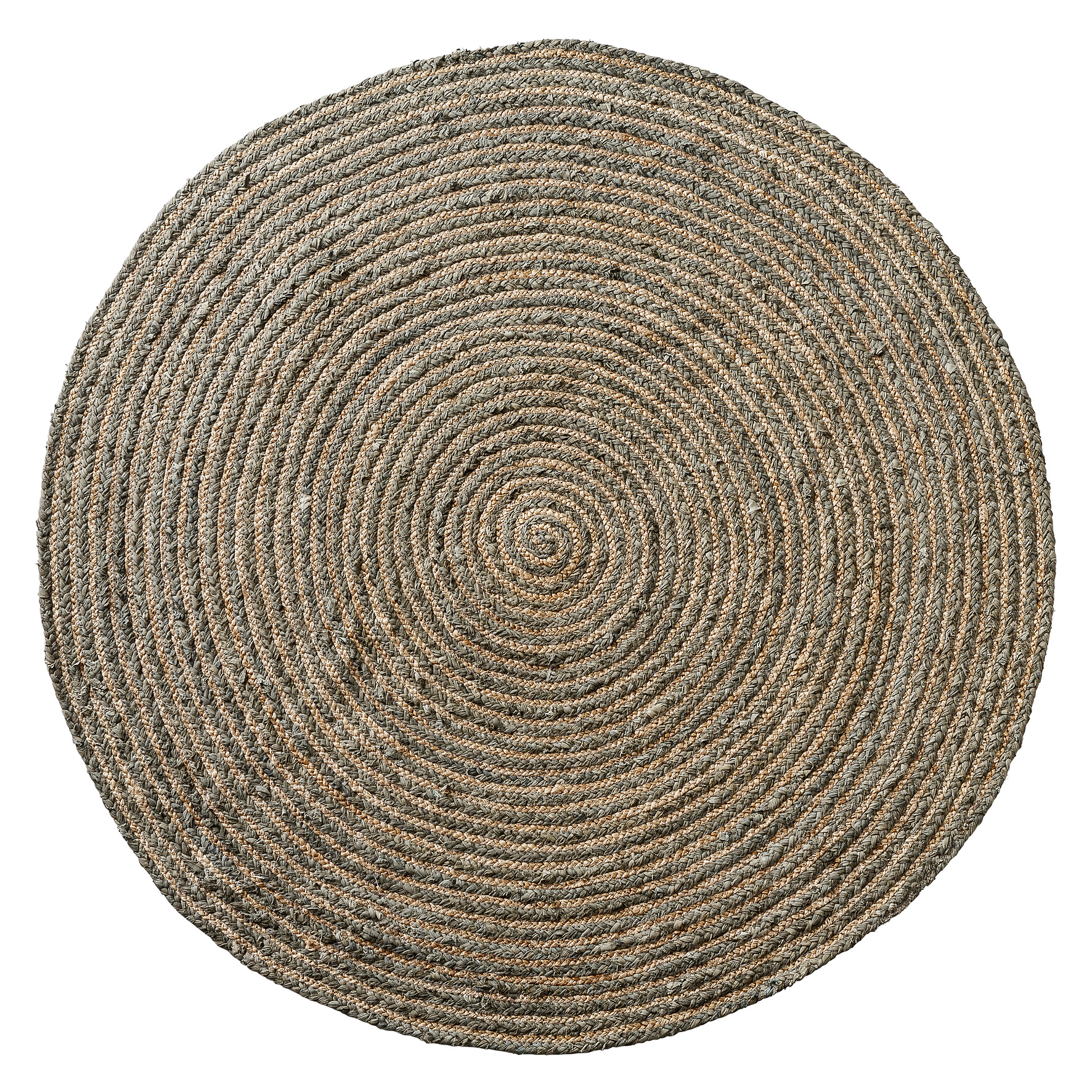 charme de provence schwerer runder teppich 120 cm moss grey linen. Black Bedroom Furniture Sets. Home Design Ideas