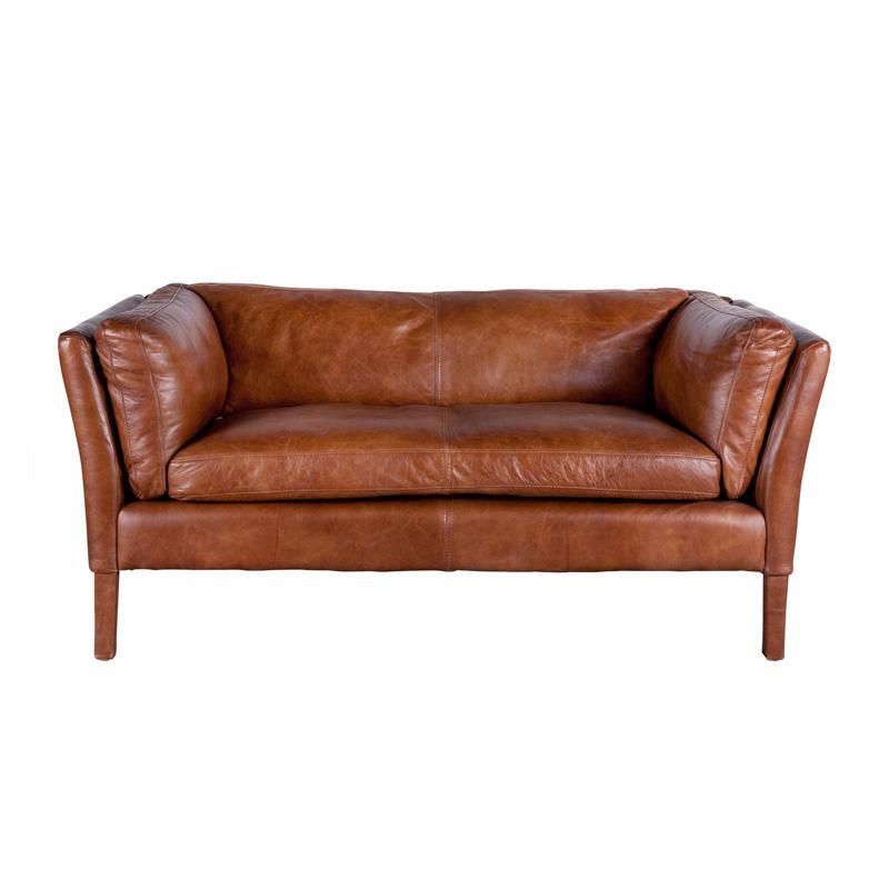 charme de provence bellamy ledersofa 2 sitzer vintageleder von flamant. Black Bedroom Furniture Sets. Home Design Ideas