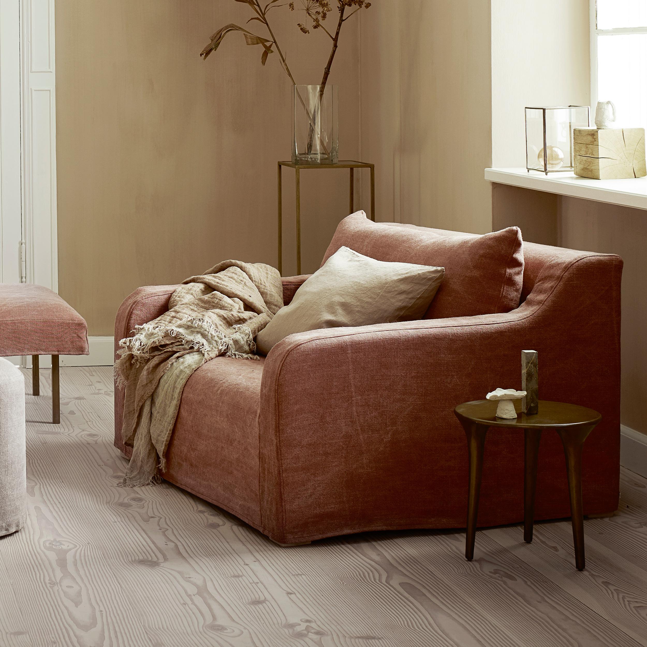 Strange Couch Frida Mit Husse Aus Stonewashed Linen In Der Farbe Rust 200 Cm Lang Interior Design Ideas Greaswefileorg