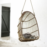 Hanging Egg Chair Renoir aus Rattan in der Farbe antique