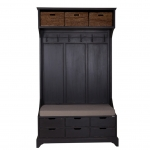 Garderobe Bellechasse in antik-black aus Pinie
