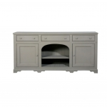 Buffet Hyde - Vollholz Pinie mit antikgrauem Finish