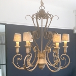 Chandelier Languedoc im Antik-Finish