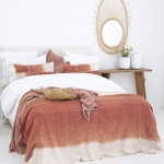 Flamant Plaid Zen aus Baumwolle in coral -  130 x 260 cm